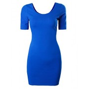 Tom's Ware Women Casual Short Sleeve Bodycon Mini Dress - Dresses - $15.99