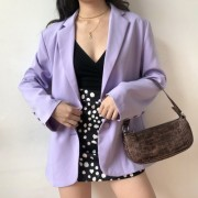 Toon purple casual suit jacket female te - Shirts - $35.99