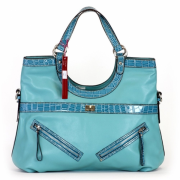 Tosca Croco Trim Satchel Handbag Mint - Hand bag - $39.95