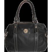 Tosca Textured Satchel Handbag Black - Hand bag - $29.95