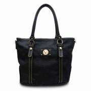 Tosca Textured Tote Handbag Black - Hand bag - $29.95