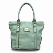 Tosca Textured Tote Handbag Green - Hand bag - $29.95