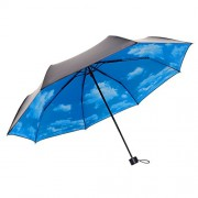 Travel Umbrella Folding Sun Umbrella Windproof Umbrella Blue Sky Umbrella for Women - Accessories - $29.99