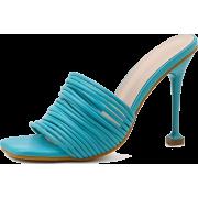 Turquoise blue sandal - Sandale -