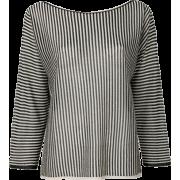 Twin-set Striped Metallic Blou - Uncategorized - $99.00  ~ 85.03€