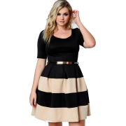 Two-tone plus size dress (Naf Dresses) - People -
