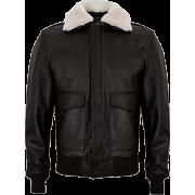 USAF A2 Aviator Mens Brown Bomber Leather Jacket - Jacket - coats - 214.00€  ~ $249.16