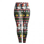 Ugly Christmas Leggings Idingding Womens Ultra Soft Digital Printed Elastic Slim Fit Tights Leggings - Pants - $25.99