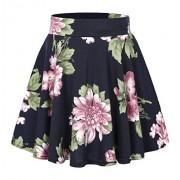 Urban CoCo Women's Floral Print Flared Mini Skater Skirt - Skirts - $11.98