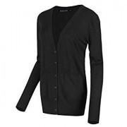 Urban CoCo Women's Long Sleeve Button Down Basic Cardigan Sweater - Shirts - $19.98