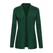 Urban CoCo Women's Long Sleeve Open Front Knit Cardigan Sweater - Shirts - $19.86