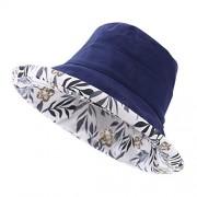 Urban CoCo Women's Reversible Wide Brim UV-Protection Bucket Hat - Hat - $10.99