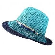 Urban CoCo Women's Summer Straw Hat UV Sun Foldable Beach Caps - Hat - $9.90