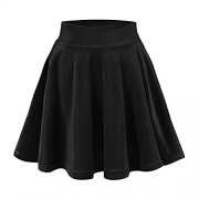 Urban CoCo Women's Vintage Velvet Stretchy Mini Flared Skater Skirt - Skirts - $8.50