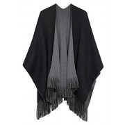 Urban CoCo Women's Winter Vintage Poncho Capes Tassel Blanket Shawl Wrap Cardigan Coat - Accessories - $24.80