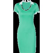 U-shaped polo collar short sleeve dress - Vestidos - $19.99  ~ 17.17€