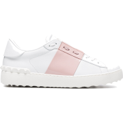 VALENTINO White Open Leather Sneakers - Tenisówki -