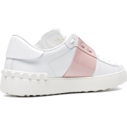 VALENTINO White Open Leather Sneakers - Tenisice -