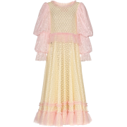 VIKTOR & ROLF pouf sleeve lace maxi dres - Dresses -