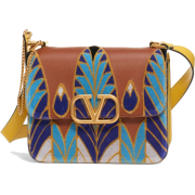 V-Sling Embroidered Shoulder Bag VALENTI - Hand bag -