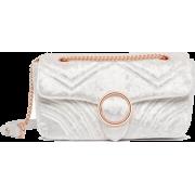 Velvet Grey Bag - Hand bag -