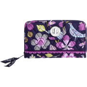 Vera Bradley Turn Lock Wallet Floral Nightingale - Wallets - $42.99