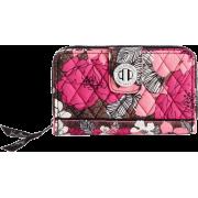 Vera Bradley Turn Lock Wallet Mocha Rouge - Wallets - $42.99