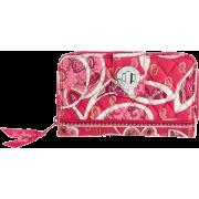 Vera Bradley Turn Lock Wallet Rosy Posies - Wallets - $46.00