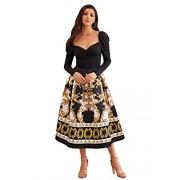 Verdusa Women's Surplice Neck Long Sleeve Pleated A-line Dress - Dresses - $38.99