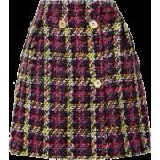 Versace | Checked wool-blend tweed mini - Uncategorized -