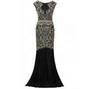 Vijiv 1920s Inspired Gatsby V Back Art Deco Beaded Maxi Evening Long Prom Dress - Платья - $39.99  ~ 34.35€