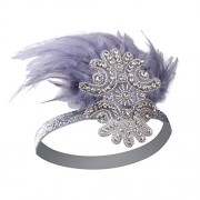 Vijiv Feather Headpiece 1920s Vintage Headband Fascinator Flapper Deco - Accessories - $11.99