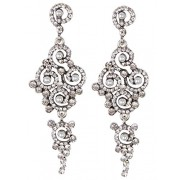 Vijiv Gatsby Earrings Art Deco Vintage 1920s Flapper Jewelry accessories Party - Earrings - $10.99