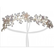 Vijiv Silver Gold Gatsby Wedding Flapper Headband accessories Jewelry Party - Accessories - $23.99