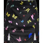 Vintage Butterfly Print Skirt Velvet Hig - Skirts - $25.99