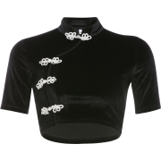 Vintage Chinese style buckle top - Shirts - $25.99