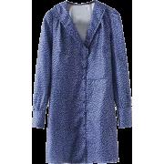 Vintage Deep V-neck Cute Lace Collar Lon - Dresses - $29.99