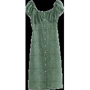 Vintage Idyllic Floral Front Long Button - Dresses - $27.99