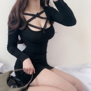 Vintage Sexy Lace Bow Stitched Long Slee - Платья - $27.99  ~ 24.04€