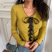 Vintage girly mustard yellow chest strap - Cardigan - $25.99