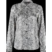 Vintage loose snake print shirt - Long sleeves shirts - $25.99