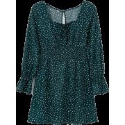 Vintage red polka dot square neck dress - Dresses - $27.99