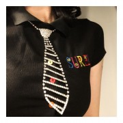 Vintage tie cute rhinestone necklac - My look - $25.99