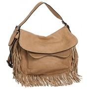 Vitalio Vera Anaya Fringe Crossbody Convt Big Hobo Handbag - Hand bag - $68.00