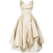 Vivienne Westwood strapless cream dress - Dresses -