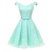 WDING Women Formal Short Evening Dresses Lace Off The Shoulder Prom Dress Cocktail Gown - Vestidos - $169.00  ~ 145.15€