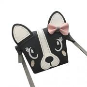 WILLTOO Children Mini Shoulder Bag Leather Handbag Backpack Crossbody Bag Cute Animal Bowknotl Schoolbag Snacks Bag - Messenger bags - $0.89