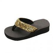 WILLTOO Clearance Womens Flip-Flops Fashion Summer Sequins Anti-Slip Slipper Beach Sandals - Sandálias - $1.23  ~ 1.06€