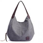 WILLTOO Fashion Womens Canvas Handbags Shoulder Bags Multi-Pocket Casual Big Shoppingbags Work Travel Totes Purses - Hand bag - $10.56