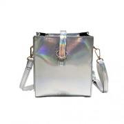 WILLTOO Women Messenger Shoulder Bags, PU Leather Handbags Laser Satchel Tote Bag Fashion Crossbody Bag - Messenger bags - $5.89